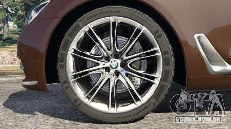 GTA 5 BMW 750Li 2016 v1.1 traseira direita vista lateral