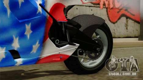 Bati America Motorcycle para GTA San Andreas vista direita