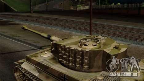 Panzerkampfwagen VI Ausf. E Tiger No Interior para GTA San Andreas vista direita