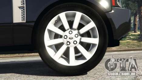 GTA 5 Range Rover Supercharged traseira direita vista lateral