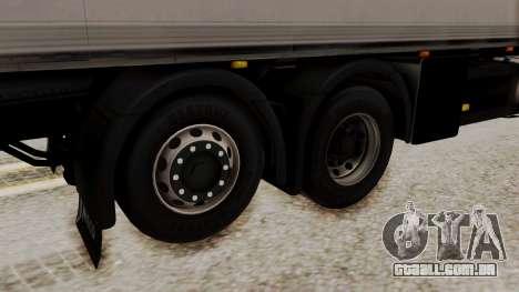 Iveco Truck from ETS 2 para GTA San Andreas traseira esquerda vista