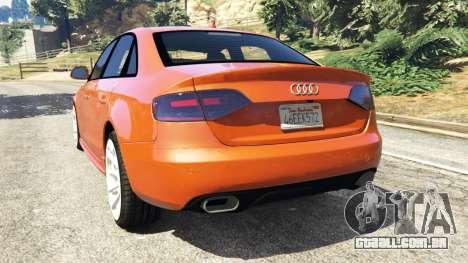 GTA 5 Audi S4 traseira vista lateral esquerda