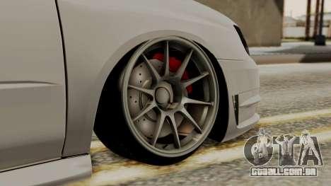 Subaru Impreza WRX STI HQ para GTA San Andreas traseira esquerda vista