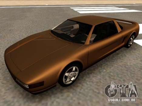Infernus PFR v1.0 final para GTA San Andreas traseira esquerda vista