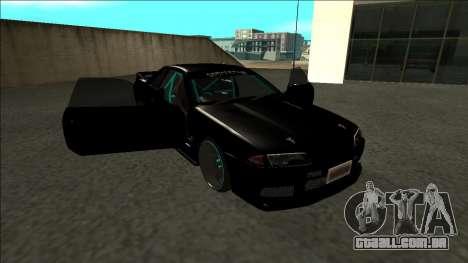Nissan Skyline R32 Drift Monster Energy para vista lateral GTA San Andreas
