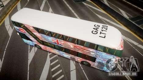 Wrightbus New Routemaster para GTA 4 vista direita