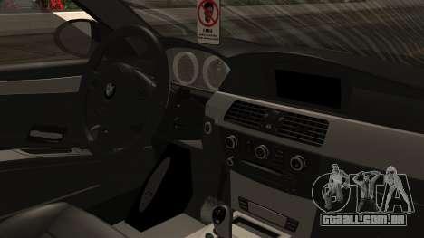 BMW M5 E60 Vossen v1 para GTA San Andreas vista traseira