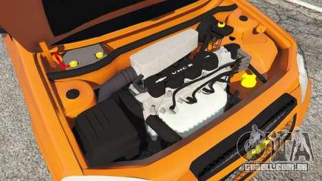 GTA 5 Chevrolet Celta traseira direita vista lateral