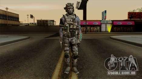 CoD Custom Ghost Retextured para GTA San Andreas segunda tela