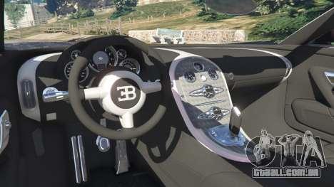 GTA 5 Bugatti Veyron Grand Sport v4.0 traseira direita vista lateral