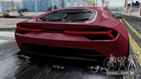 Lamborghini Asterion 2015 Concept para GTA San Andreas vista traseira