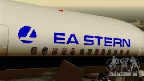 Boeing 757-200 Eastern Air Lines para GTA San Andreas vista traseira