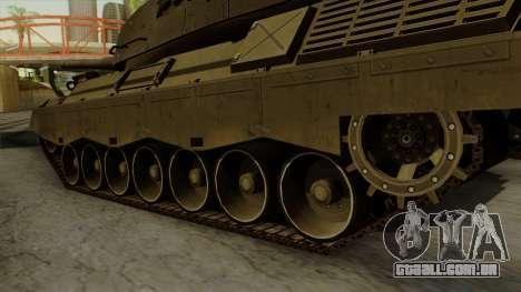 Leopard 1A5 para GTA San Andreas traseira esquerda vista
