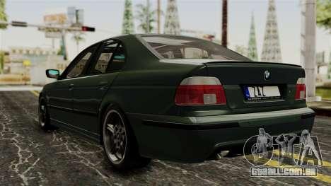 BMW 530D E39 1999 Mtech para GTA San Andreas esquerda vista