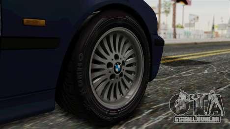 BMW 530D E39 1999 Stock para GTA San Andreas traseira esquerda vista