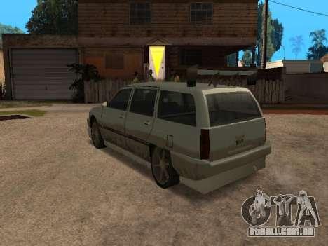 New Solair para GTA San Andreas traseira esquerda vista