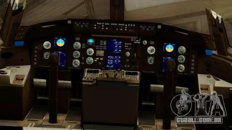 Boeing 757-200 Eastern Air Lines para GTA San Andreas vista interior