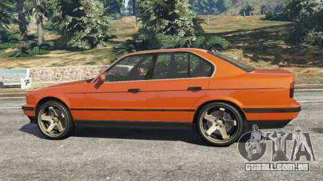 GTA 5 BMW 535i (E34) v2.0 vista lateral esquerda