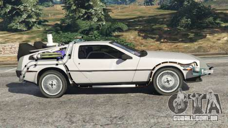 GTA 5 DeLorean DMC-12 Back To The Future v0.3 vista lateral esquerda