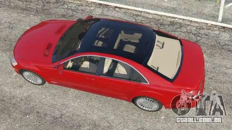 GTA 5 Mercedes-Benz S550 W221 v0.4.1 [Alpha] voltar vista