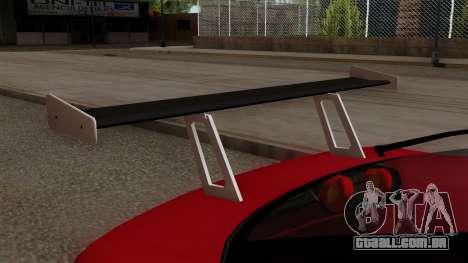 Nissan 180SX Street Golden Rims para GTA San Andreas vista traseira