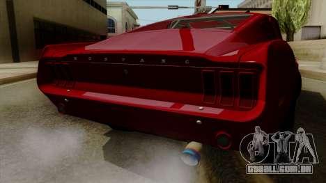 Ford Mustang Fastback para GTA San Andreas vista interior