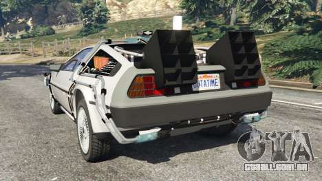 GTA 5 DeLorean DMC-12 Back To The Future v0.3 traseira vista lateral esquerda
