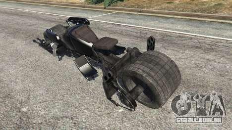 GTA 5 Batpod v1.1 traseira vista lateral esquerda