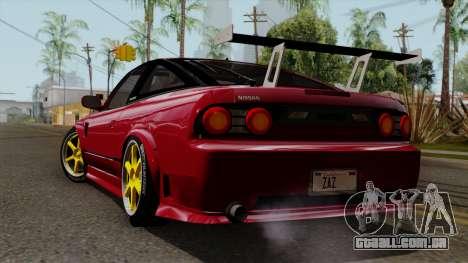 Nissan 180SX Street Golden Rims para GTA San Andreas esquerda vista