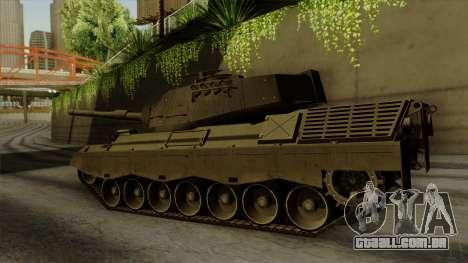 Leopard 1A5 para GTA San Andreas esquerda vista