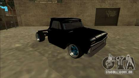 Chevrolet C10 Drift Monster Energy para GTA San Andreas esquerda vista