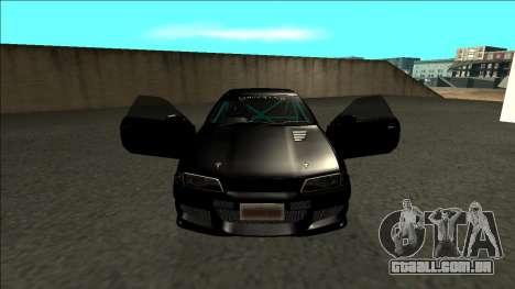 Nissan Skyline R32 Drift Monster Energy para GTA San Andreas vista interior