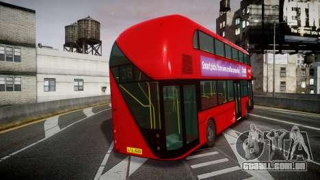 Wrightbus New Routemaster Abellio London para GTA 4 traseira esquerda vista