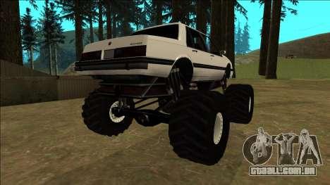 Willard Monster para GTA San Andreas traseira esquerda vista