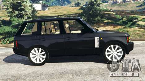 GTA 5 Range Rover Supercharged vista lateral esquerda