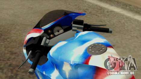 Bati America Motorcycle para GTA San Andreas vista traseira
