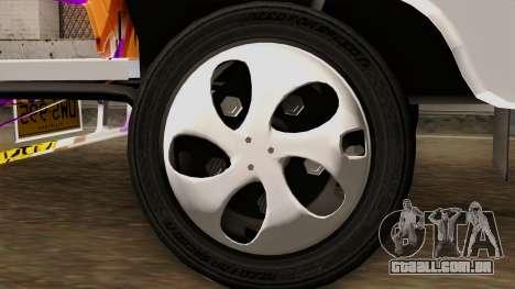 Znranomics - Costum Jeepney (Gabshop) para GTA San Andreas traseira esquerda vista