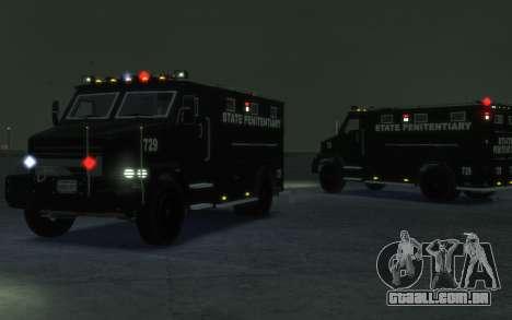 International 4000-Series SWAT Van para GTA 4 esquerda vista