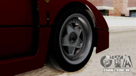 Ferrari F40 1987 without Up Lights IVF para GTA San Andreas traseira esquerda vista