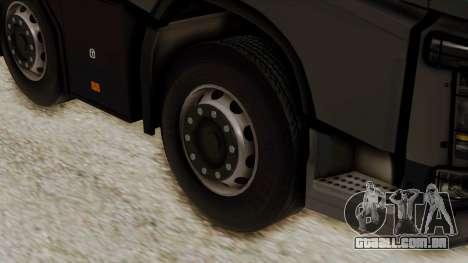Volvo FH Euro 6 10x4 Low Cab para GTA San Andreas traseira esquerda vista