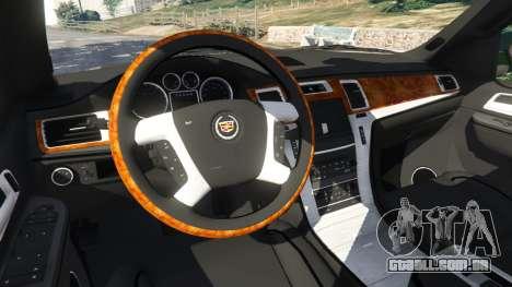 GTA 5 Cadillac Escalade ESV 2012 vista lateral direita