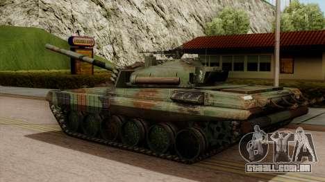 PT-91A Twardy para GTA San Andreas esquerda vista