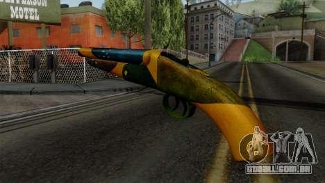 Brasileiro Sawnoff Shotgun v2 para GTA San Andreas segunda tela