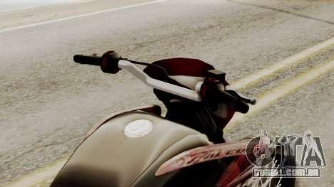 Honda NX400 Falcon para GTA San Andreas vista traseira