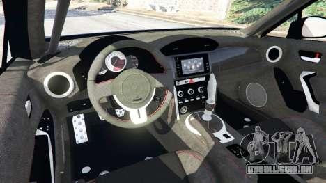GTA 5 Toyota GT-86 v1.3 vista lateral direita