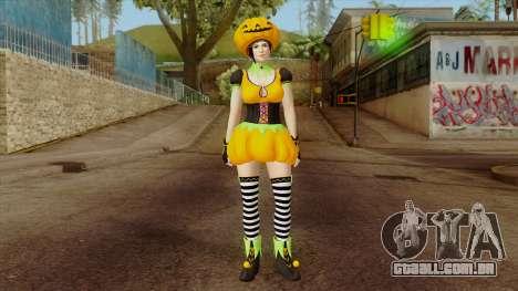 Dead or Alive 5 Mila Halloween para GTA San Andreas segunda tela