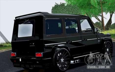 Mercedes Benz G65 Black Star Edition para GTA San Andreas vista direita