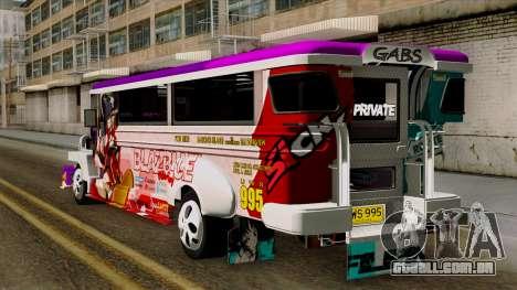 Znranomics - Costum Jeepney (Gabshop) para GTA San Andreas esquerda vista