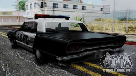 Police Savanna 2.0 para GTA San Andreas esquerda vista