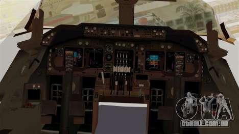Boeing 747-200 China Airlines Dreamliner para GTA San Andreas vista traseira